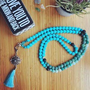 Jewelry - SOLD Turquoise Tassel Mala Beads 💙 🕉 🧘♀️ 📿